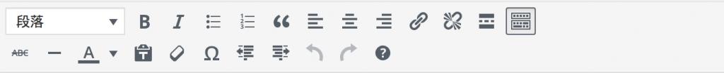 WordPress 原生編輯器